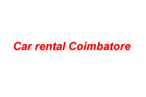 Car rental Coimbatore